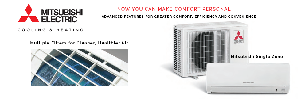 Mitsubishi Single Zone Ductless