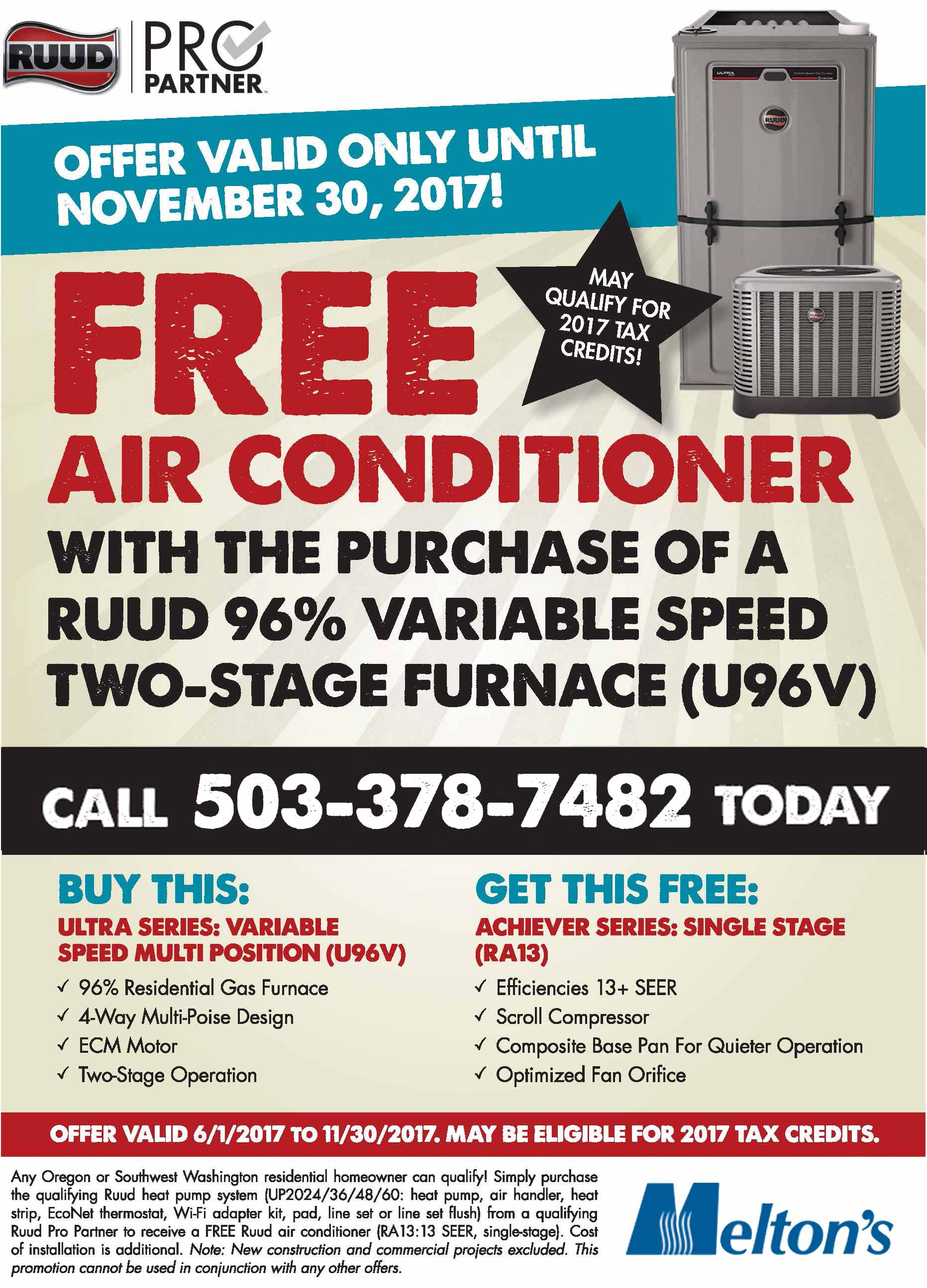 Ruud Free Air Conditioning Melton S Heating And Air